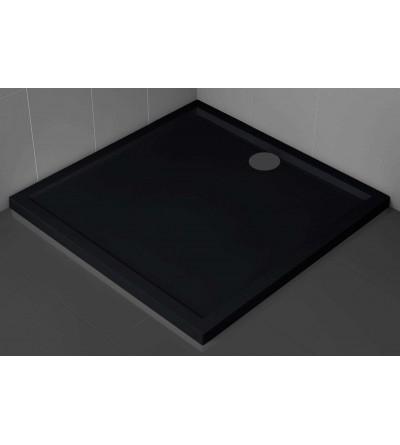 Piatto doccia quadrato 4.5 cm nero Novellini Olympic