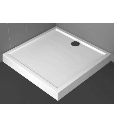 Square shower tray 11.5 cm glossy white Novellini Olympic