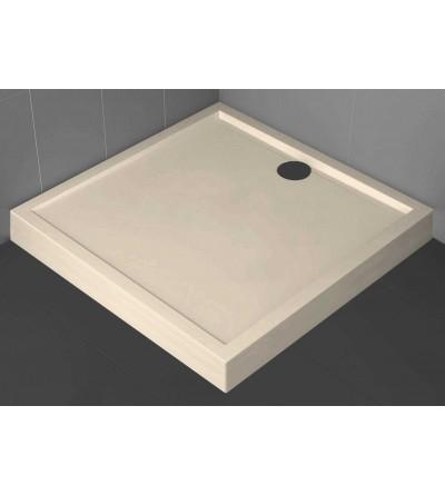 Plato de ducha cuadrado 11.5 cm beige Novellini Olympic