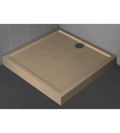Piatto doccia quadrato 11.5 cm colore corda Novellini Olympic