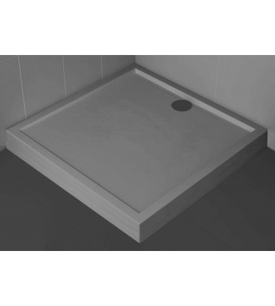 Square shower tray 11.5 cm Grey color Novellini Olympic