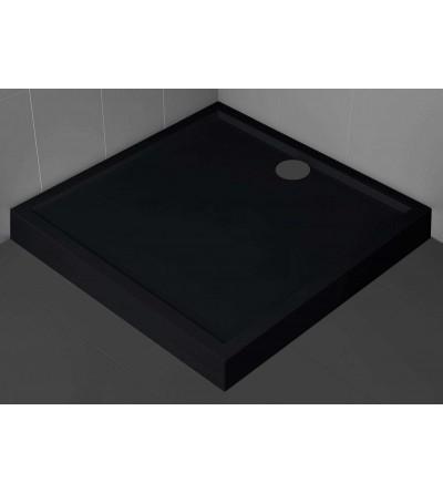 Piatto doccia quadrato 11.5 cm nero Novellini Olympic
