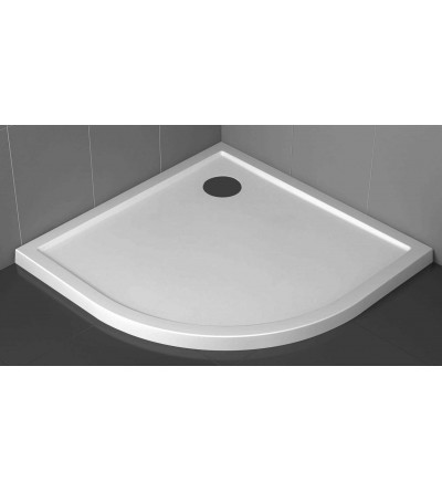 Semicircular shower tray 4.5 cm glossy white Novellini Victory