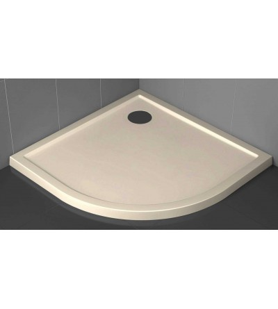 Semicircular shower tray 4.5 cm beige Novellini Victory