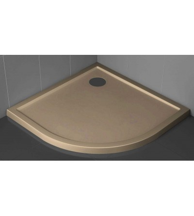 Semicircular shower tray 4.5 cm rope color Novellini Victory