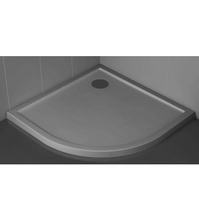 Semicircular shower tray 4.5 cm grey color Novellini Victory
