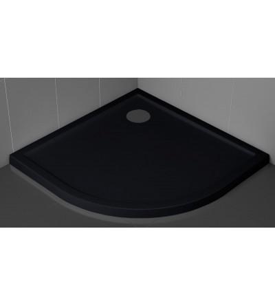 Piatto doccia semicircolare 4.5 cm nero Novellini Victory