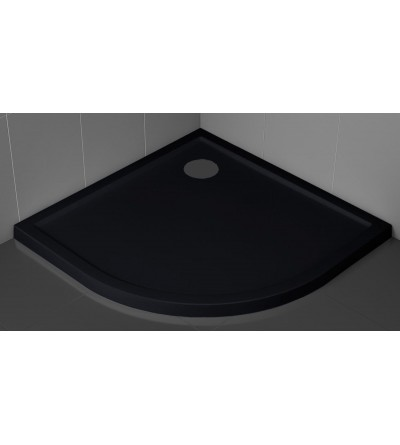 Semicircular shower tray 4.5 cm black color Novellini Victory