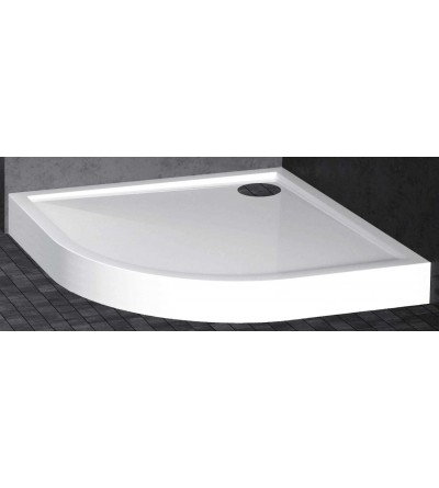 Semicircular shower tray 11,5 cm glossy white Novellini Victory