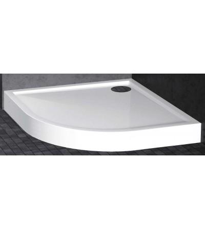 Piatto doccia semicircolare 11.5 cm bianco opaco Novellini Victory