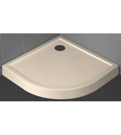 Piatto doccia semicircolare 11.5 cm beige Novellini Victory
