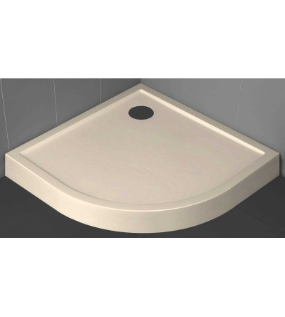 Semicircular shower tray 11.5 cm beige Novellini Victory