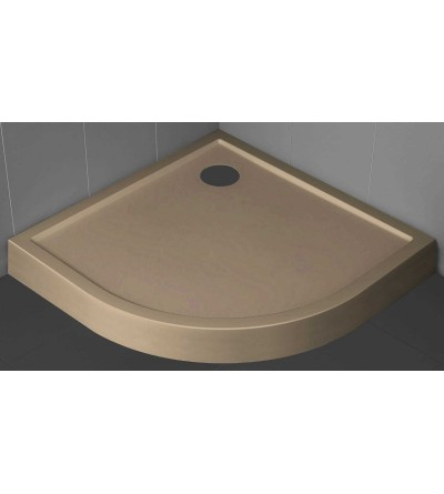 Semicircular shower tray 11.5 cm rope color Novellini Victory