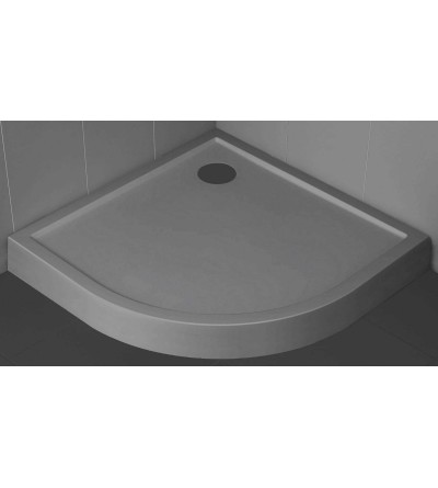 Semicircular shower tray 11.5 cm grey color Novellini Victory