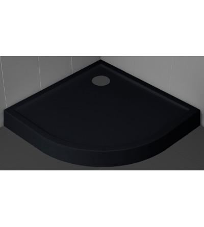 Piatto doccia semicircolare 11.5 cm nero Novellini Victory