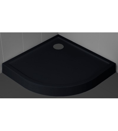 Semicircular shower tray 11.5 cm black color Novellini Victory