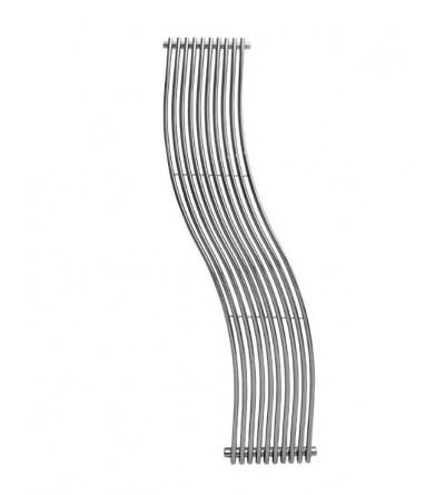 Termoarredo radiatore design colore cromo curvo Ercos Cassiopea