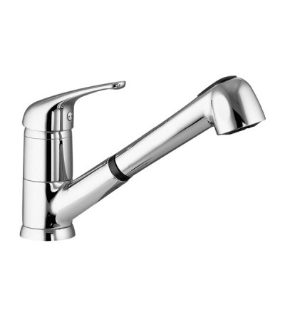 Kitchen sink mixer with pull-out shower Gattoni Pesci 5612256