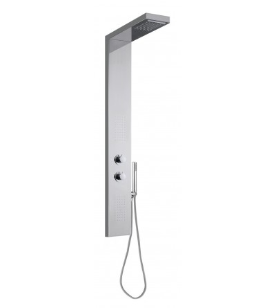 Equipped steel shower panel Damast EOS 12684