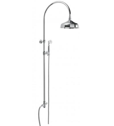 Retro brass shower column Damast Antica 12766