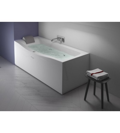 Rectangular bathtub with hydromassage Jacuzzi Versa