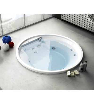 Round built-in bathtub Jacuzzi Project Round