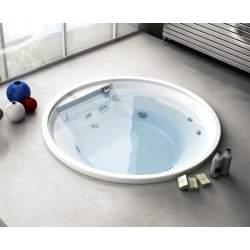 Round built-in bathtub...