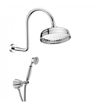 Retro brass shower kit Damast Antico 13641-13655