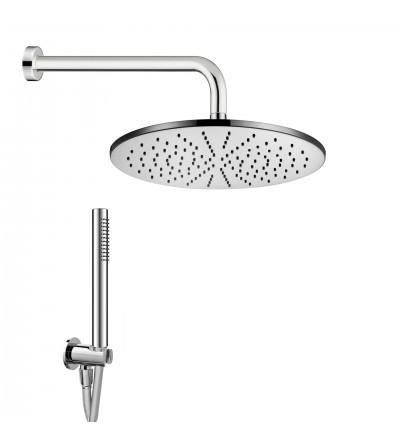 Kit de ducha en latón cromado Damast Elegance Tondo 13652