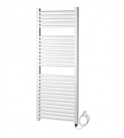 Electric towel warmer white thermolimited Ercos Tekno