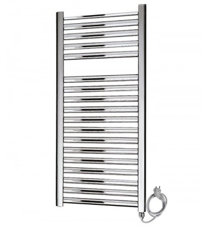 Electric towel warmer chrome thermolimited Ercos Tekno