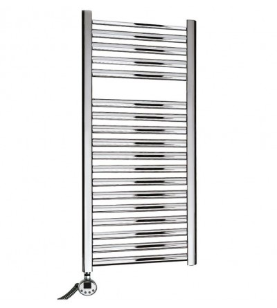 Electric towel warmer chrome with digital thermostat Ercos Tekno ASTCT