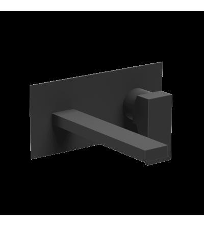 Miscelatore per lavabo a muro nero opaco Ponsi Italia R BTITRKLA19