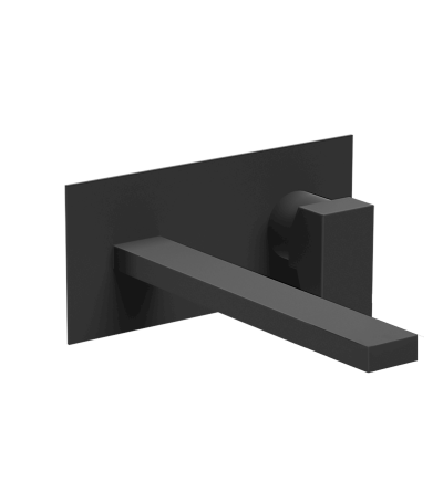 Matt black wall-mounted washbasin mixer Ponsi Italia R BTITRKLA20