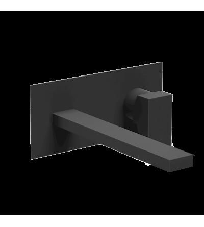 Miscelatore per lavabo a muro nero opaco Ponsi Italia R BTITRKLA20