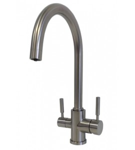3 ways Kitchen sink mixer for Water Treatment stainless steel Equa Pure 001