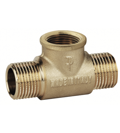 Brass T Shape Pipe Male female male Tee Adapter FP Pattaroni F140