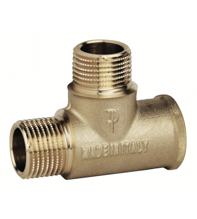Brass T Shape Pipe male male female Tee Adapter FP Pattaroni F143