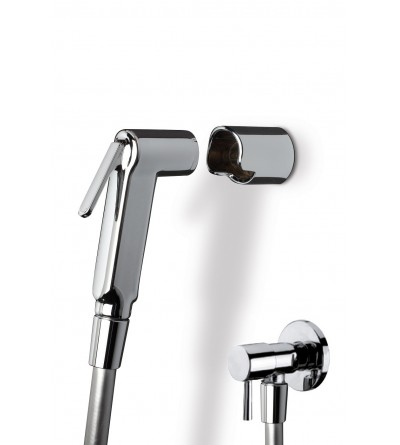 Shower kit for toilet in chrome color Damast 14180