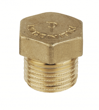 Thread Brass Pipe Screw Hex Male Blanking Plug FP Pattaroni F592