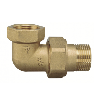 Threaded Pipe Joint Union Elbow Fittings Female x Male FP Pattaroni F802