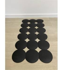 Schwarze rutschfeste Badezimmermatte 40 x 80 cm RIDAP Giotto 000603007
