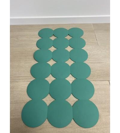 Grün rutschfeste Badezimmermatte 40 x 80 cm RIDAP Giotto 000604006