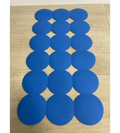 Black non-slip bathroom blue 40 x 80 cm RIDAP Giotto 000607027