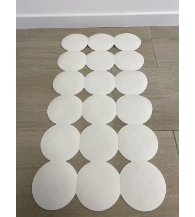Tappeto per bagno antiscivolo bianco 40 x 80 cm RIDAP Giotto