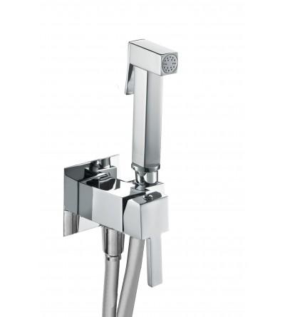 Hygienic shower kit with mixer Damast 15872