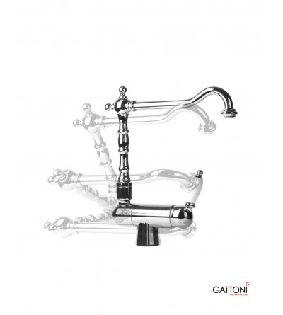 single lever kitchen mixer for front of window Gattoni 60146