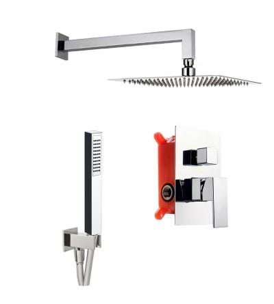 Complete square model shower kit Damast 16044