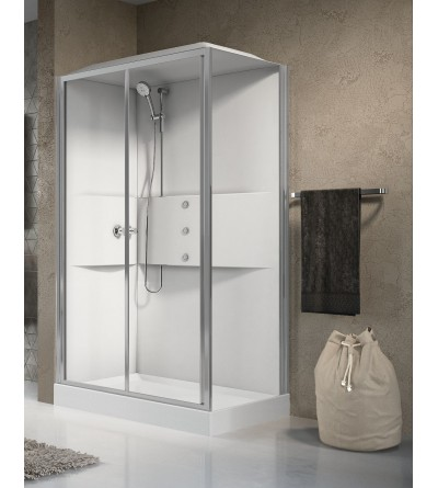 multifunction complete steam cubicle Novellini media 2.0 2P120X80
