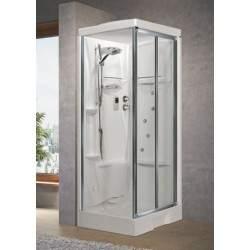 Cabina de ducha abriendo...